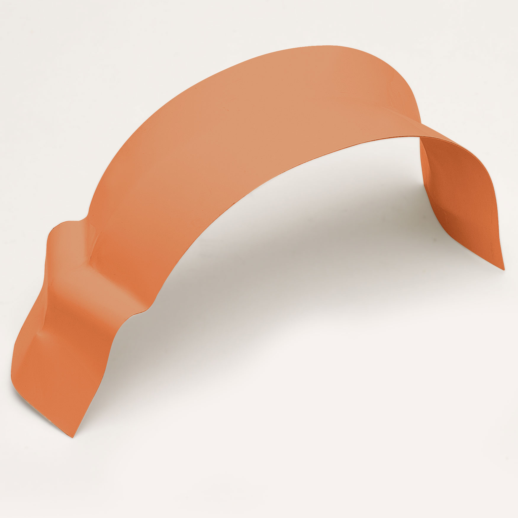"6"" Outside Bay Strip Miters Half Round - Copper"