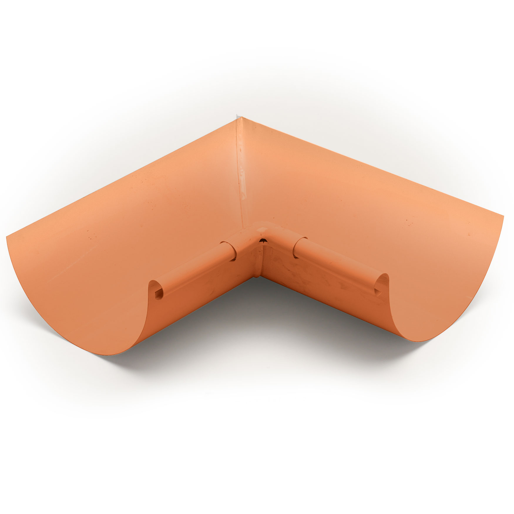"6"" Inside Box Miters Half Round - Copper"