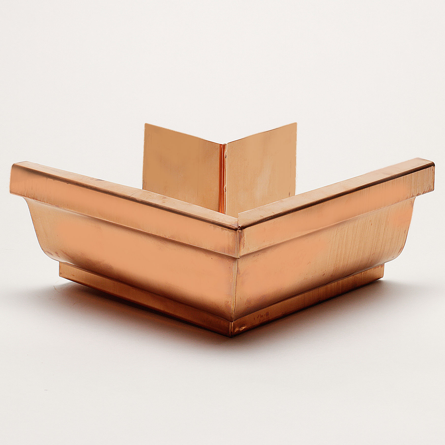 """6"""" Outside Box Miters """"K"""" Style - Copper"""