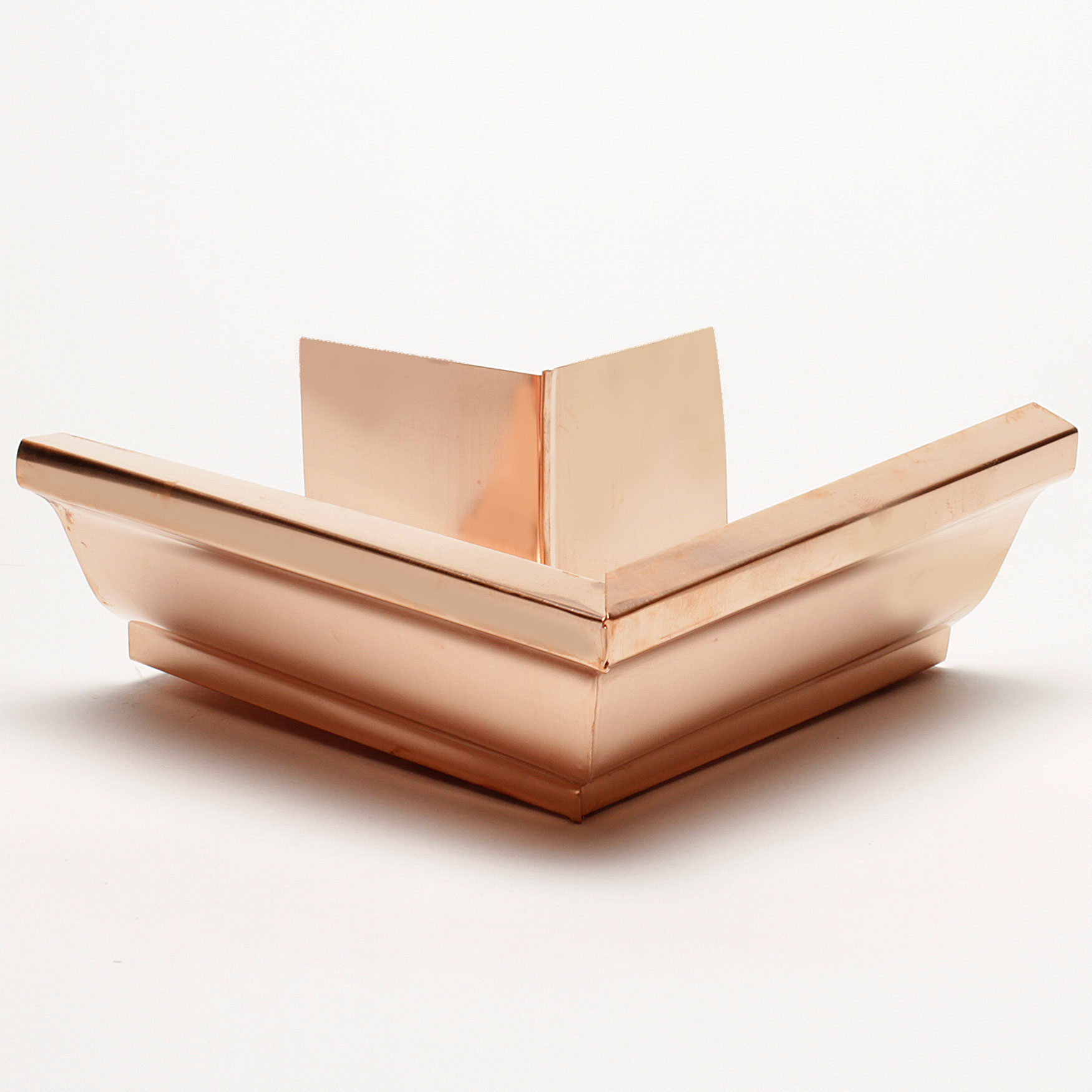 """5"""" Outside Box Miters """"K"""" Style - Copper"""