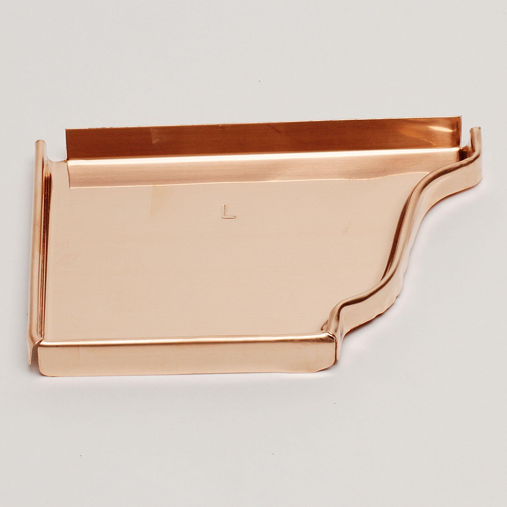 """6"""" Left End Cap """"K"""" Style – Copper"""
