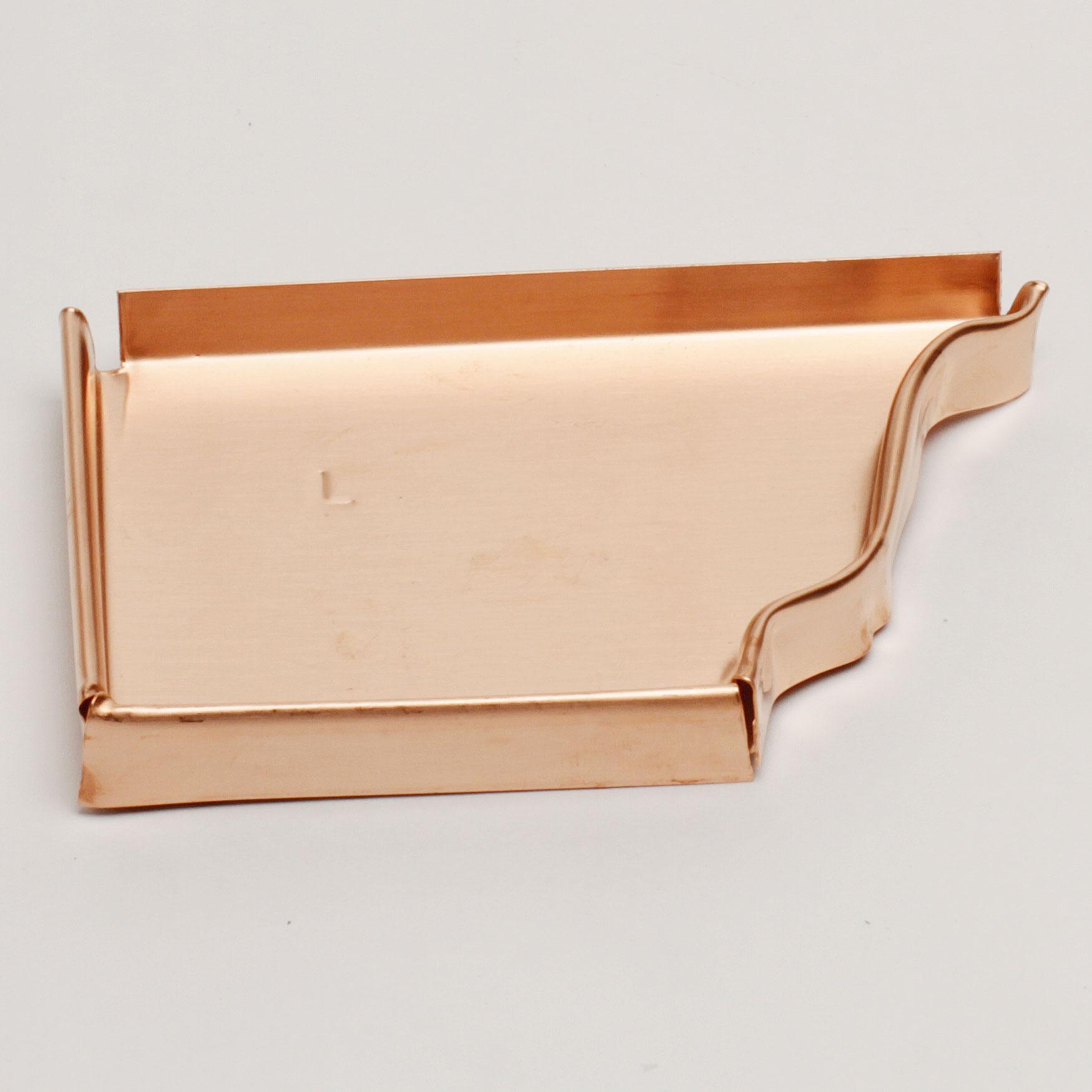 """5"""" Left End Cap """"K"""" Style – Copper"""