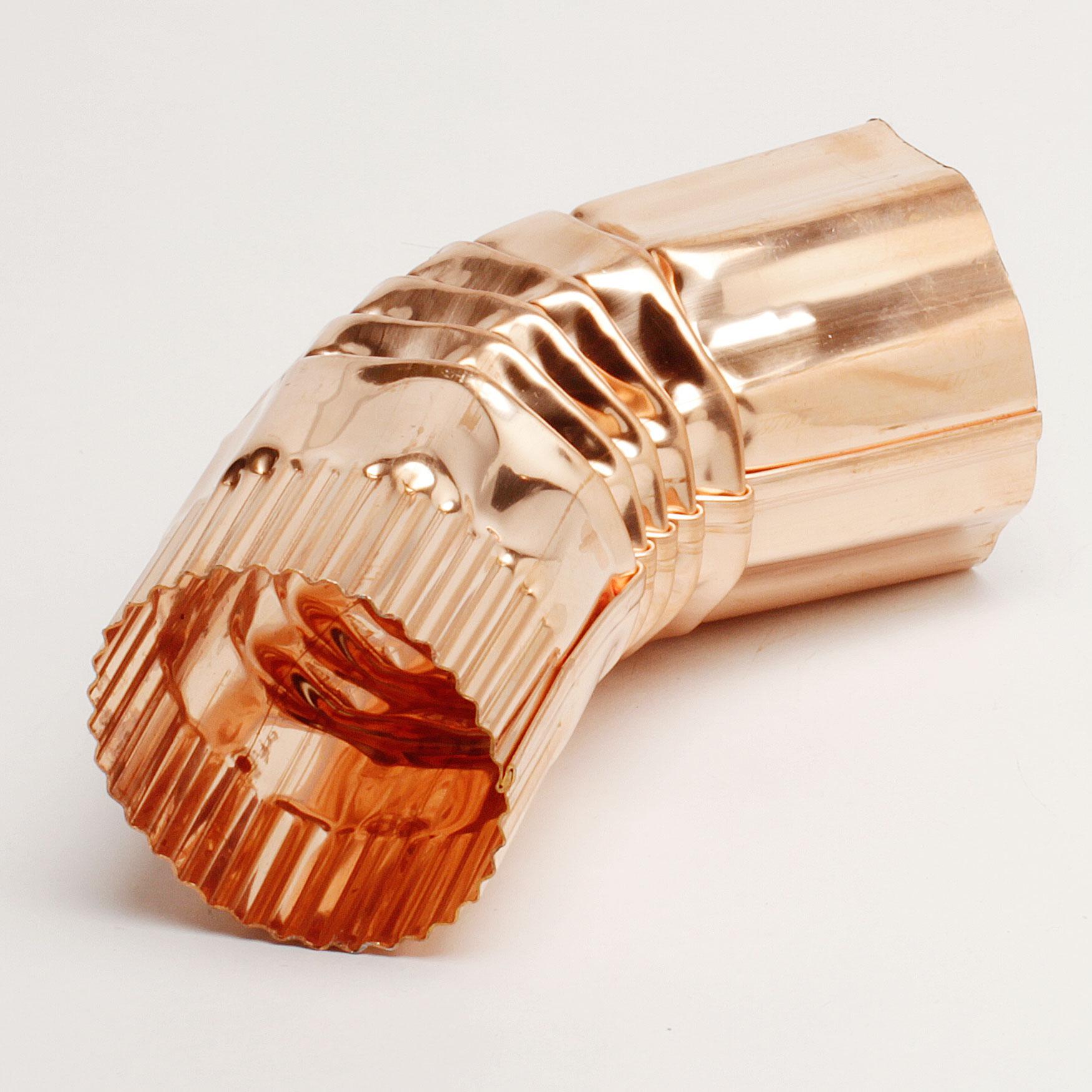 "3"" Round Corrugated 22 ½ Degree Elbow – Copper"