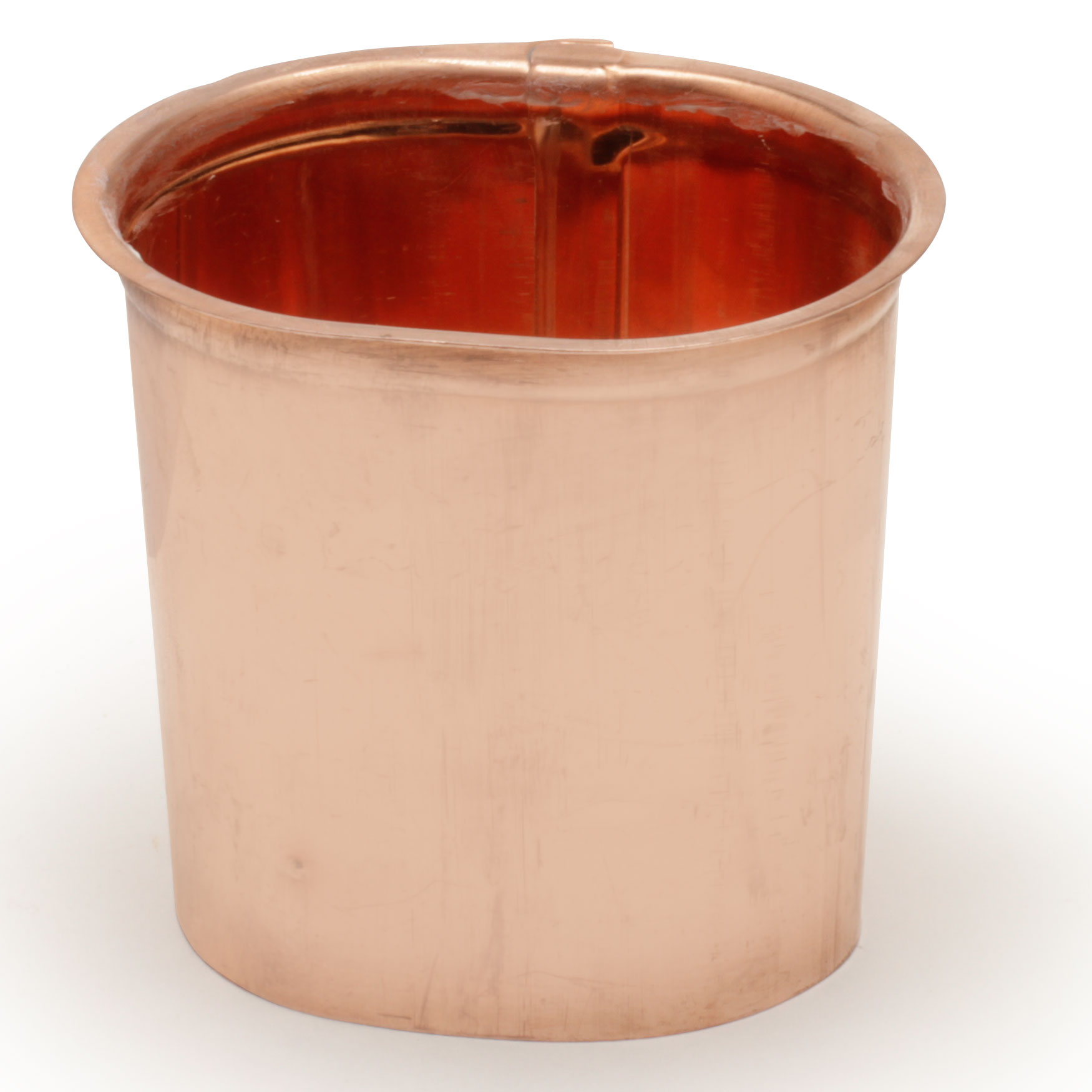 """2""""x 3"""" Oval Outlet """"K"""" Style - Copper"""