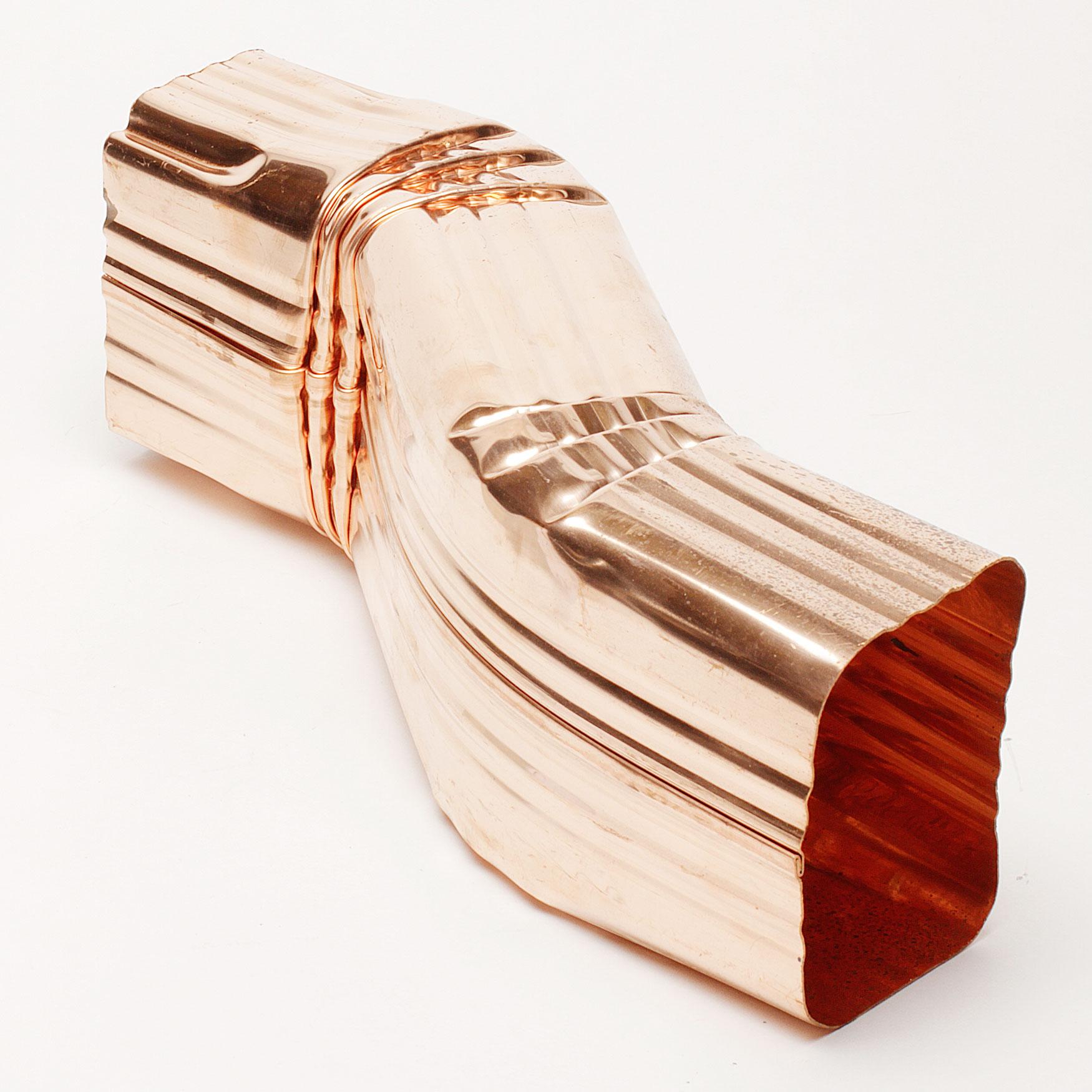 "Copper 2"" x 3"" Zig Zag ""A"" Elbow – 2"" Offset"