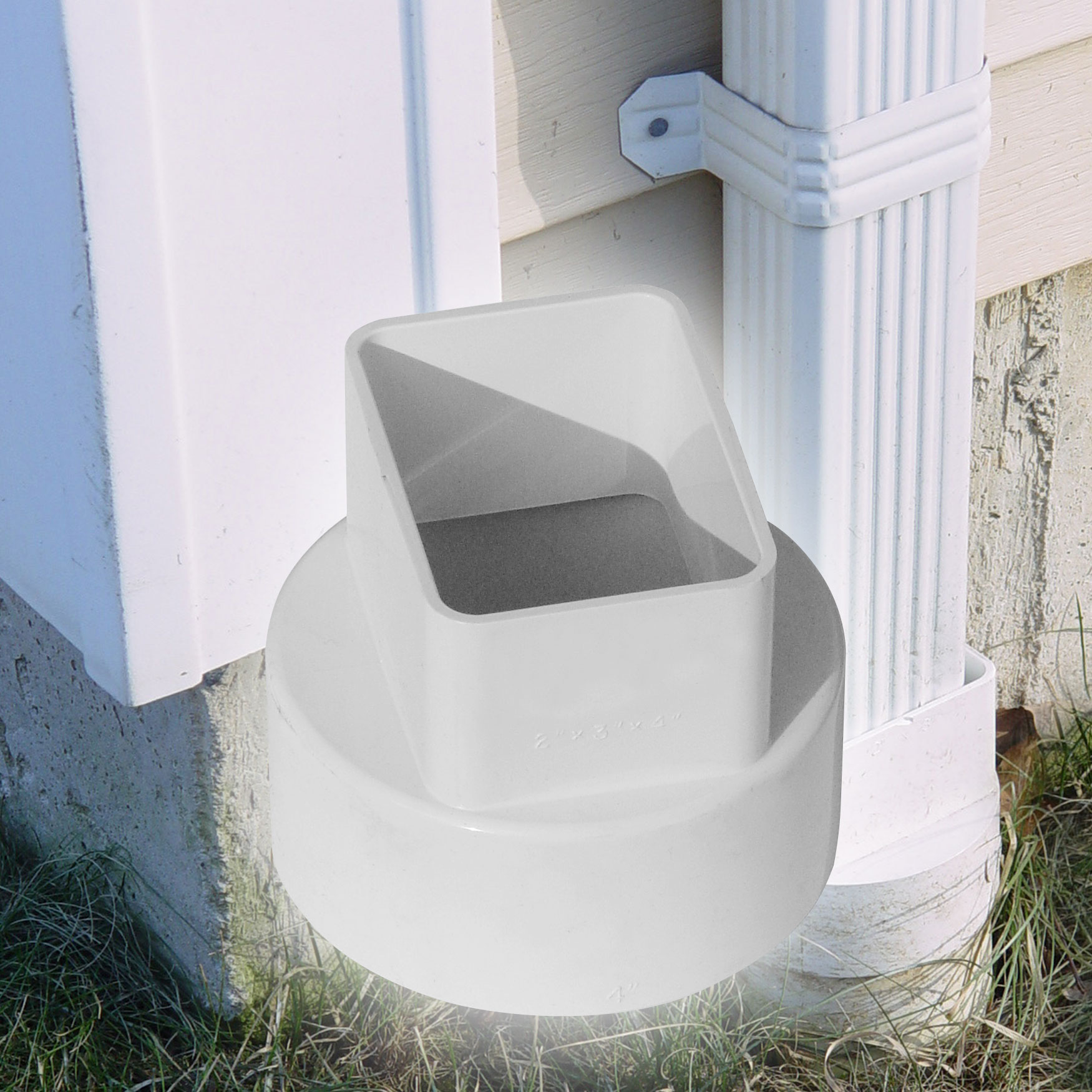 "4"" Down Spout Adapters – Centered"