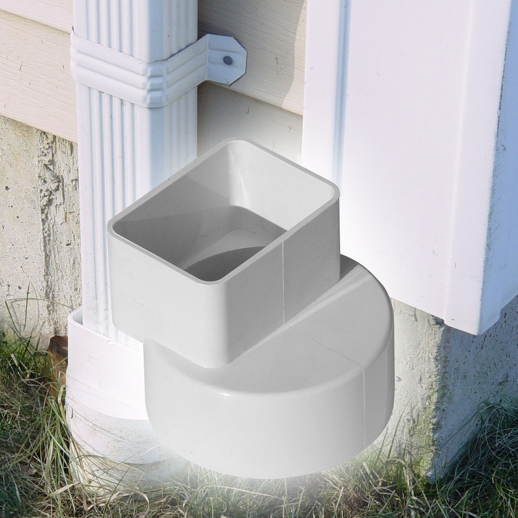 """4"""" Down Spout Adapters – Offset"""